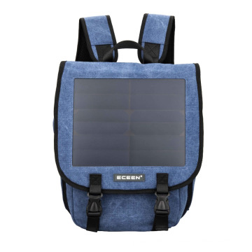 Solar charger energy bag with canvas material