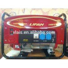 2.5kw Portable low oil gasoline generator Lifan 2.8GF-3