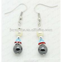 Magnetische Hämatit Perlen Perlen Ohrringe