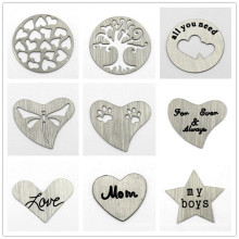 Custom 22mm Stainless Steel Floating Locket Window Charms Plates