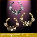 Oro, plata, rosa Clip oro en cuerpo tribales joyería tabique