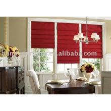 Roter Baumwoll-Römischer Vorhang