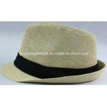 100% chapéu de cowboy de palha de papel