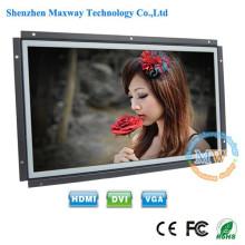 16:10 résolution 1680X1050 écran ouvert 15,4 pouces moniteur LCD avec HDMI VGA DVI