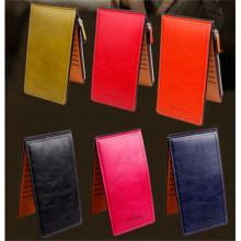In Stocks Multi Card Holder Zip Long Style PU Wallet