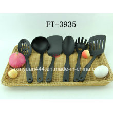 New Nylon PA66 Black Flat Handle Kitchenware 10 PC /Set (FT-3935)