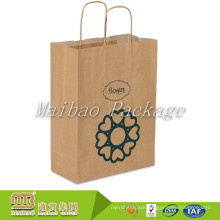 Wholesale Custom Design Print Gift Shopping Brown Mini Kraft Paper Bags With Twisted Handles