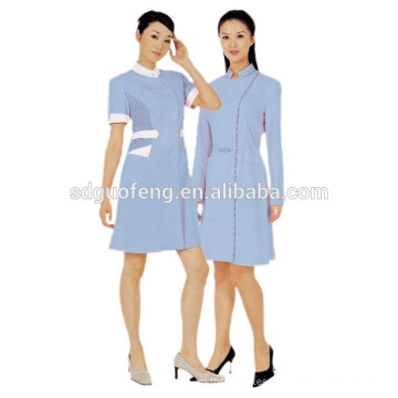 145gsm 100% algodón 20 * 20 60 * 60 tela para médico uniforme