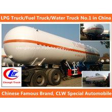3 Axle 56cbm Heavy Duty LPG Truck LPG Tank Trailer