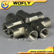 Raccords en tuyau en laiton à coude en acier inoxydable de 90 degrés
