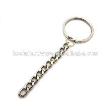 Мода высокого качества металла никель покрытием кольцо с длинной цепью