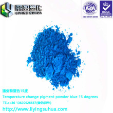 Clothing printing with temperature change orange 33 degree high temperature achromatic color changing powder
