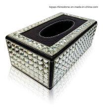 Diamond Rhinestone Crystal Tissue Box Car Tissue Box with Tray (TBB-003)