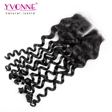 Middle Part Brazilian Curly Hair Closure