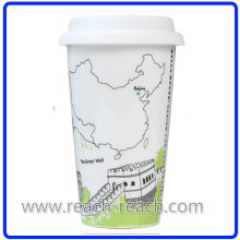 Город кофе кружка с крышкой (R-3017)