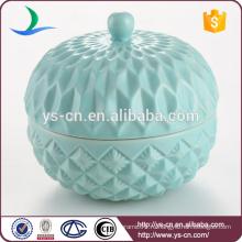 Рельефный голубой керамический керамический контейнерный оптовый производитель