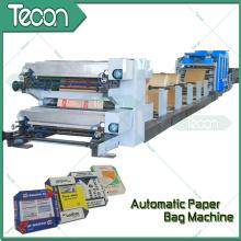Bolsa de papel de cemento que hace la máquina con 4 colores de impresión en línea