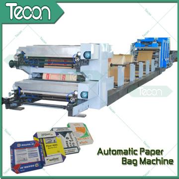 Fully Automatic Flexo Printing Valve Paper Bag Making Machine