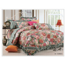100% cotton cute flower duvet cover set floral korean style bedding set comforter set