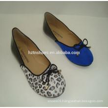 Spring 2015 fashion The blue black stitching ballerina shoe Lady Flat Shoes