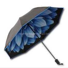 Paraguas plegable de calidad dual personalizado - 95.5cm de arco