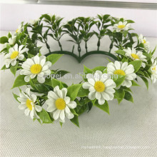 Cheap hanging artificial flower wreath for window decor