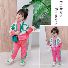 Ready to Ship Fall Autumn Children′s Clothing Letter Print Cool Sale Wholesale Modern 2PCS Children′s Infant Clothings