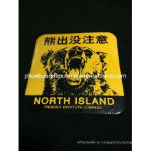 Adesivo reflexivo de advertência de 10 * 10 cm