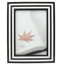 New Style Black With White 4x6inch Plastic Photo Frame