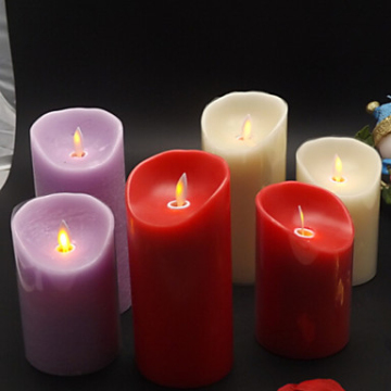 colored moving wick led candle