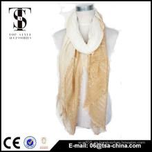 2015 señoras rayas teñidas 100 bufanda viscosa