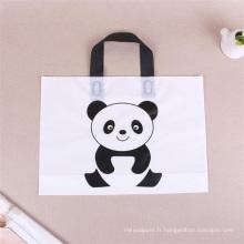 sac en plastique avec poignée pour faire du shopping