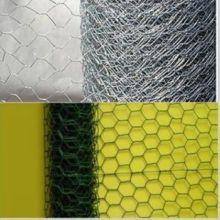 Malla hexagonal revestida galvanizada y del PVC de 1-3 / 4inch