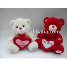 plsuh et peluche ours en peluche Saint-Valentin avec coeur