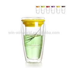 Großhandelseinzelne Wandtrinkende klare Glastürkis-Tee-Schalen