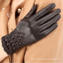 ZF1066 Winter Fleece Gefüttert warmes Elastik Leder Handschuhe in Lixian