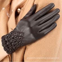 ZF1066 Winter Fleece Lined warm elastec leather Gloves in Lixian