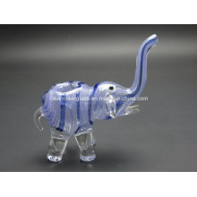 Wholesale 14cm Height Elephant Shape Glass Pipe Smoking Pipe Hand Pipe