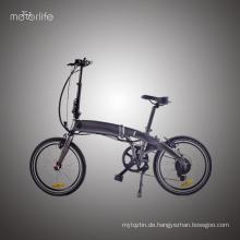 Heißeste 36v350w 20 '' Mini e Fahrrad faltbar, Hochleistungsbatterien elektrisches Fahrrad