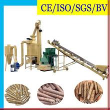 Automatic Biomass Sawdust Wood Pellet Making Production Line 1-2t/Hour