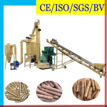 Ligne de production de pastilles en bois dur de riz à déchets de biomasse avec CE