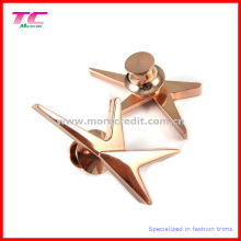 High Quality Rose Gold Lapel Pin with Butterfly Clasp