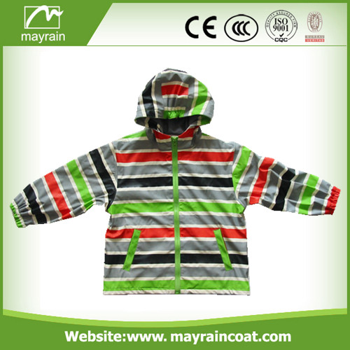 Kids PU Raincoat for Selling