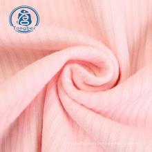 tecido de malha de algodão spandex com nervuras em malha grossista