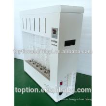 Aparato de extracción Soxhlet, máquina analizadora de grasa