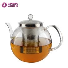 Meilleure vente produits résistant à la chaleur Borosilicate théière en verre avec infuseur à thé pour faire bouillir l'eau en gros