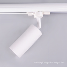White Black Commercial 3 Phase Aluminium Housing Ceiling Track Rail Spotlight Gu10 Mr16 360 Degree Rotatable Led Track Light