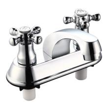 Mezclador de grifo de lavabo de doble manija ABS (JY-018)