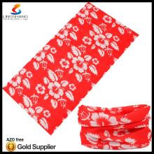 NINGBO LINGSHANG 100% poliéster pañuelo tubular personalizado al por mayor barato pañuelo por encargo