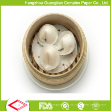 Papel humeante antiadherente para vapor de bambú